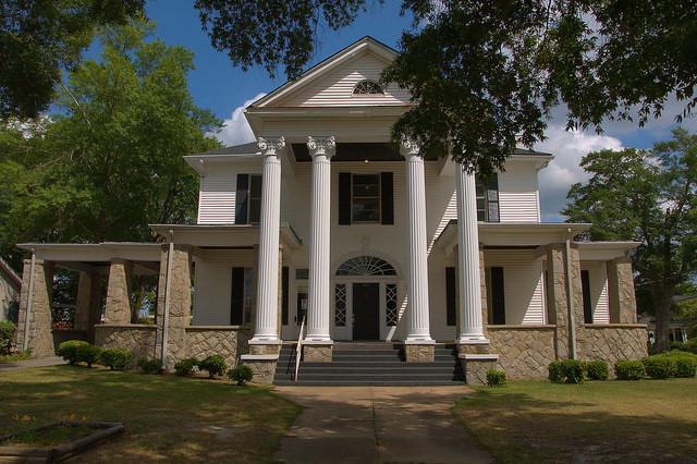 Historic District Elberton GA Johnson House Granite Photograph Copyright Brian Brown Vanishing