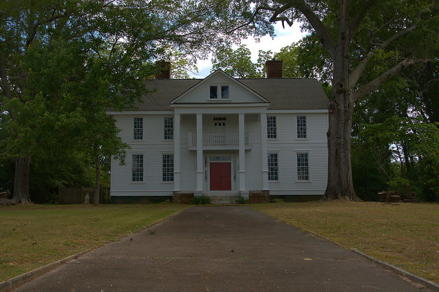 Historic District Elberton GA Tustin Van Duzer House Photograph Copyright Brian Brown Vanishing North Georgia USA 2015