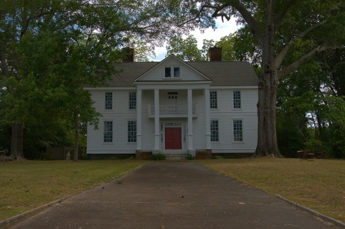 Historic District Elberton GA Tustin Van Duzer House Photograph Copyright Brian Brown Vanishing North Georgia USA 2015