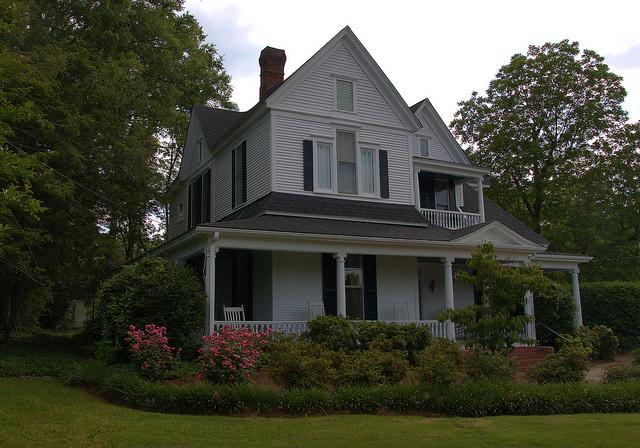 Historic District House Elberton GA Photograph Copyright Brian Brown Vanishing North Georgia USA 2015