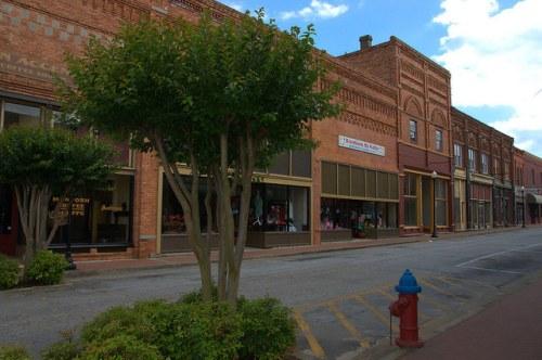 Historic Downtown Elberton GA McIntosh Street Photograph Copyright Brian Brown Vanishing North Georgia USA 2015