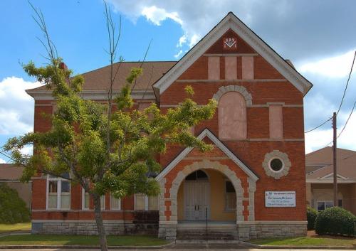 Historic Elberton GA Philomather Lodge 25 Photograph Copyright Brian Brown Vanishing North Georgia USA 2015