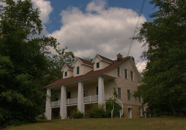 Historic Elberton GA Swift Oliver House Photograph Copyright Brian Brown Vanishing North Georgia USA 2015