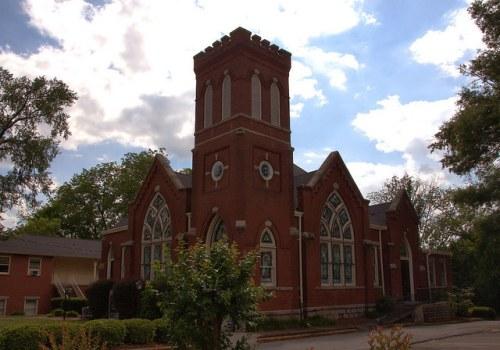Historic First Presbyterian Church Elberton GA Photograph Copyright Brian Brown Vanishing North Georgia USA 2015