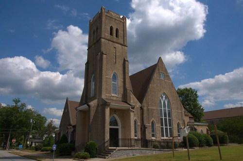 Historic First United Methodist Church Elberton GA Photograph Copyright Brian Brown Vanishing North Georgia USA 2015