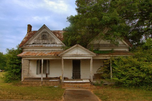 Bowersville GA Hart County Folk Victorian House Photograph Copyright Brian Brown Vanishing North Georgia USA 2015