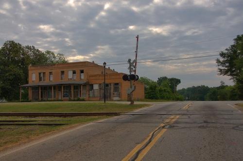 Bowersville GA Hart County Railroad Crossing Photograph Copyright Brian Brown Vanishing North Georgia USA 2015