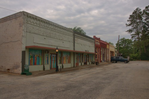 Bowman GA Elbert County Commercial Storefronts Photograph Copyright Brian Brown Vanishing North Georgia USA 2015