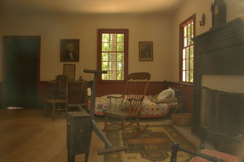 Callaway Plantation Historic Site Wilkes County GA Jacob Callaway Grey House Interior Photograph Copyright Brian Brown Vanishing North Georgia USA 2015