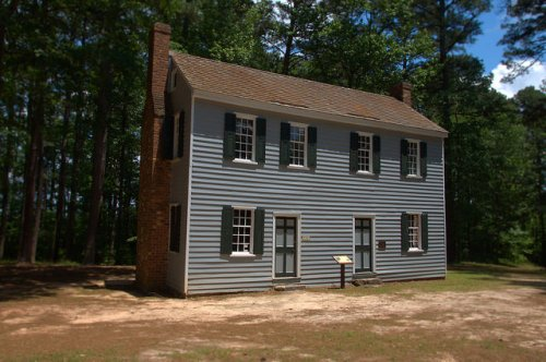 Callaway Plantation Historic Site Wilkes County GA Jacob Callaway Grey House Photograph Copyright Brian Brown Vanishing North Georgia USA 2015