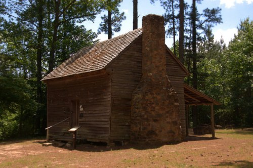 Callaway Plantation Historic Site Wilkes County GA Mark Heard Circa 1785 Cabin Relocation Photograph Copyright Brian Brown Vanishing North Georgia USA 2015