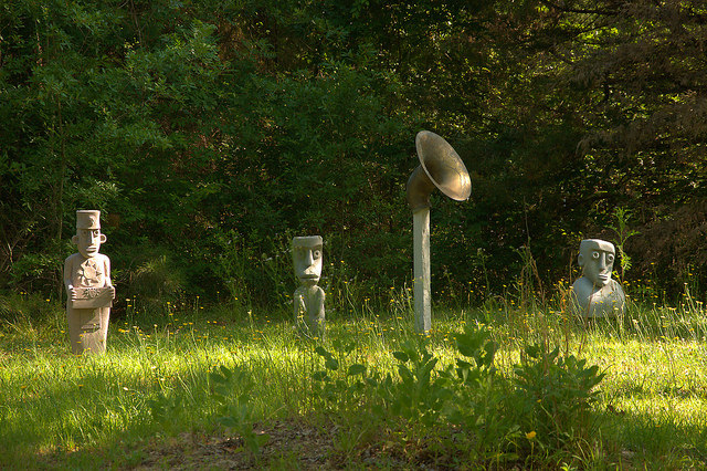 Carlton GA Madison County Outsider Art Sculptures Photograph Copyright Brian Brown Vanishing North Georgia USA 2015
