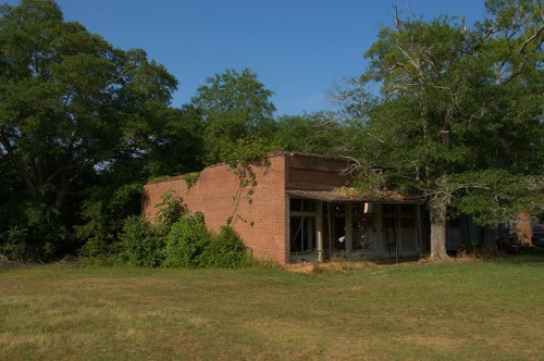 Carlton GA Madison County Ruins Photograph Copyright Brian Brown Vanishing North Georgia USA 2015