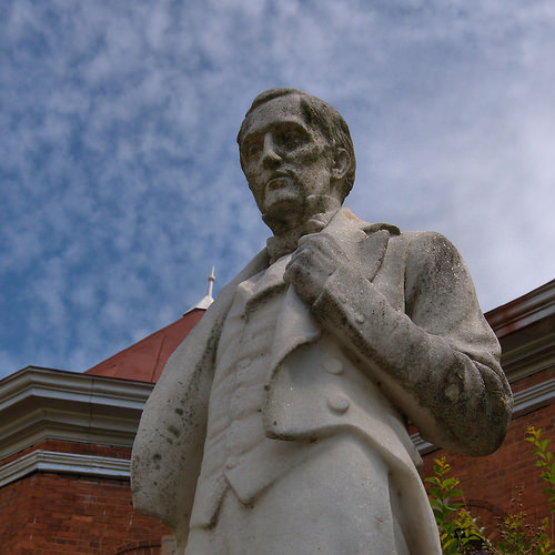 Crawford W Long Statue Danielsville GA Madison County Courthouse Grounds Photograph Copyright Brian Brown Vanishing North Georgia USA 2015