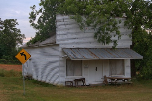 Dewy Rose GA Elbert County Old Country Store Photograph Copyright Brian Brown Vanishing North Georgia USA 2015
