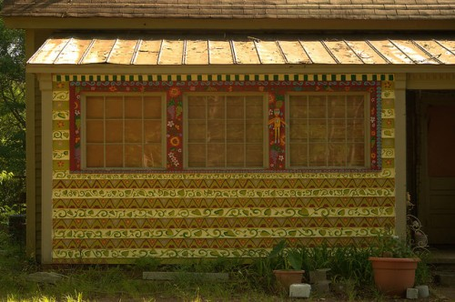Folk Art House Carlton GA Madison County Stencils Photograph Copyright Brian Brown Vanishing NOrth Georgia USA 2015