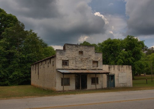 Fortsonia GA Elbert County Old Mercantile Photograph Copyright Brian Brown Vanishing North Georgia USA 2015