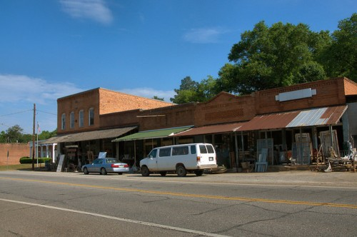Historic Carlton GA Downtown Photograph Copyright Brian Brown Vanishing North Georgia USA 2015