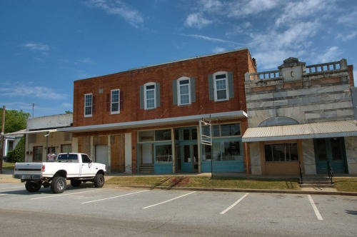Historic Comer GA Madison County Storefronts Photograph Copyright Brian Brown Vanishing North Georgia USA 2015