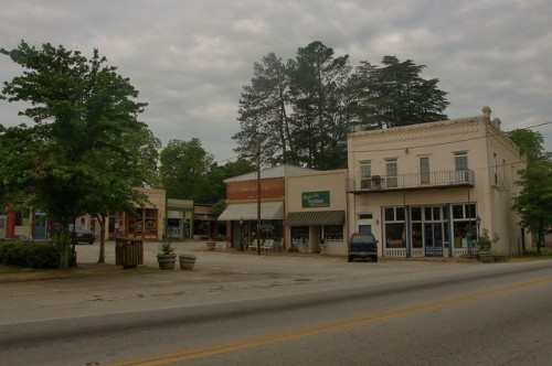 Historic Downtown Bowman GA Highway 17 Photograph Copyright Brian Brown Vanishing North Georgia USA 2015