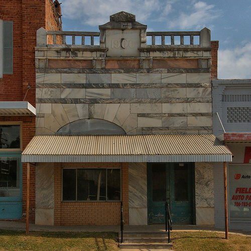 Historic Downtown Comer GA Madison County Marble Front Bank Photograph Copyright Brian Brown Vanishing North Georgia USA 2015