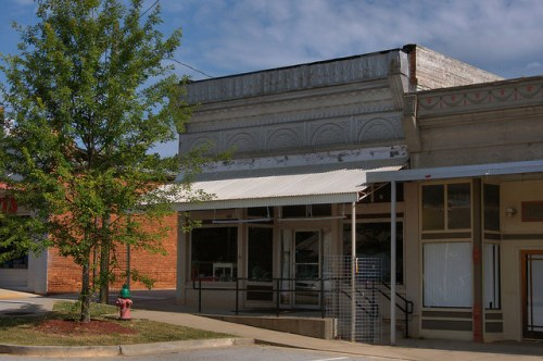 Historic Downtown Comer GA Madison County Pressed Tin Storefront Photograph Copyright Brian Brown Vanishing North Georgia USA 2015