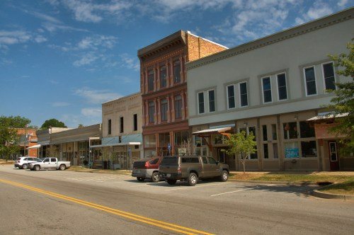 Historic Downtown Comer GA Madison County Storefronts Photograph Copyright Brian Brown Vanishing North Georgia USA 2015