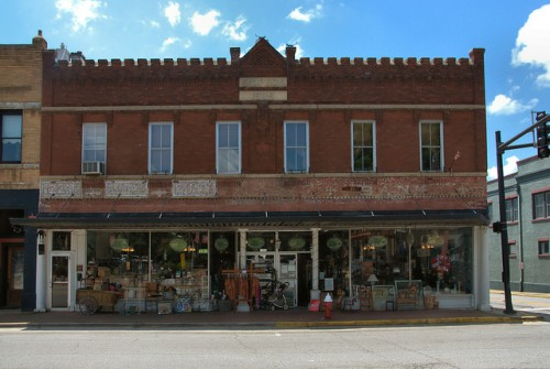 Historic Downtown Washington GA Simpson Building Bank Antique Store Photograph Copyright Brian Brown Vanishing North Georgia USA 2015