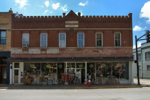 Historic Downtown Washington GA Simpson Building Bank Antique Store Photograph Copyright Brian Brown Vanishing North Georgia USA 2015