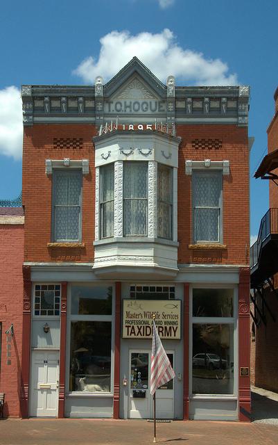 Historic Downtown Washington GA T C Hogue Building Photograph Copyright Brian Brown Vanishing North Georgia USA 2015