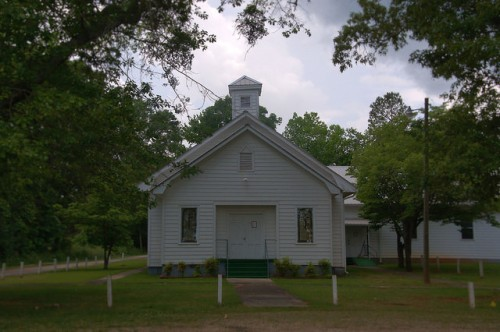 Historic Twin Oak Baptist Church African American Wilkes County GA Photograph Copyright Brian Brown Vanishing North Georgia USA 2015