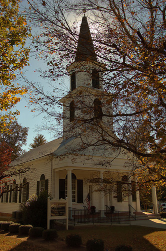 Historic Washington GA Wilkes County Washington Presbyterian Church Photograph Copyright Brian Brown Vanishing North Georgia USA 2015