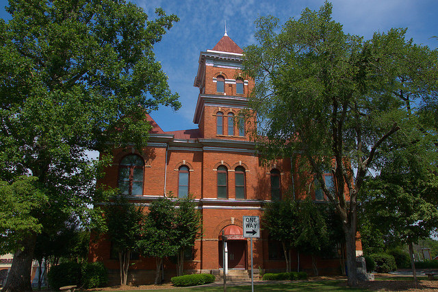 Madison County Courthouse Danielsville GA Photograph Copyright Brian Brown Vanishing North Georgia USA 2015