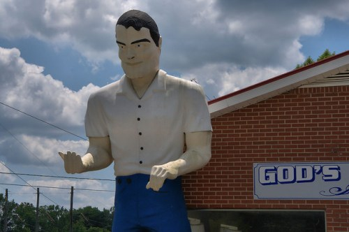 Muffler Man Gods Marketplace Washington GA Wilkes County Photograph Copyright Brian Brown Vanishing North Georgia USA 2015