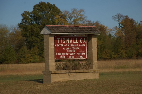 Tignall GA Washington County Historic Community Sign Photograph Copyright Brian Brown Vanishing North Georgia USA 2015