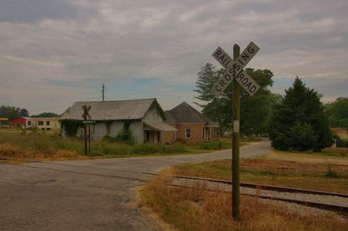 Vanna GA Hart County Railroad Crossing Photograph Copyright Brian Brown Vanishing North Georgia USA 2015