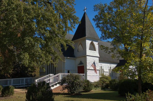 Washington GA Historic Episcopal Church of the Mediator Photograph Copyright Brian Brown Vanishing North Georgia USA 2015