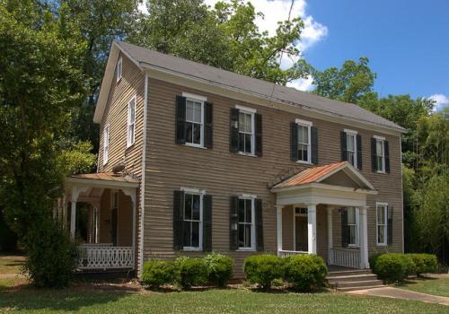 Washington GA Wilkes Count Historic Federal Style House Photograph Copyright Brian Brown Vanishing North Georgia USA 2015