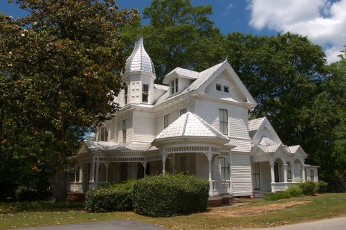Washington GA Wilkes County Hogue May House Victorian Landmark Photograph Copyright Brian Brown Vanishing North Georgia USA 2015
