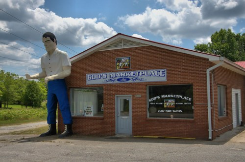 Washington GA Wilkes County Muffler Man Oversized Fiberglass Statue Photograph Copyright Brian Brown Vanishing North Georgia USA 2015