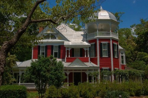 Washington GA Wilkes County Red Victorian Queen Anne Photograph Copyright Brian Brown Vanishing North Georgia USA 2015