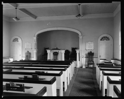 Washington Presbyterian Church Interior by Frances Benjamin Johnston 1939 HABS Courtesy Library of Congress