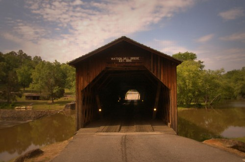 Watson Mill Bridge State Park Madison County GA Photograph Copyright Brian Brown Vanishing North Georgia USA 2015