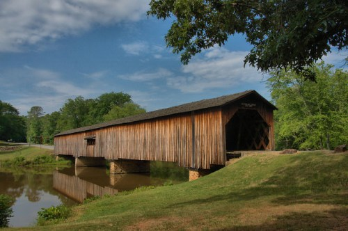 Watson Mill Covered Bridge Madison County GA Photograph Copyright Brian Brown Vanishing North Georgia USA 2015