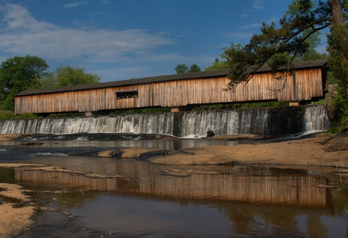 Watson Mill Covered Bridge State Park Madison County GA Photograph Copyrght Brian Brown Vanishing North Georgia USA 2015