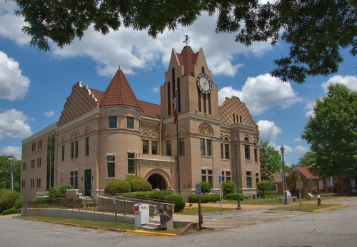 Wilkes County Courthouse Washington GA Photograph Copyright Brian Brown Vanishing North Georgia USA 2015