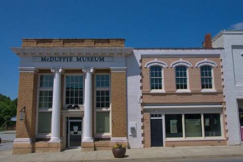 Historic Downtown Thomson GA Bank Storefronts McDuffie Museum Photograph Copyright Brian Brown Vanishing North Georgia USA 2015