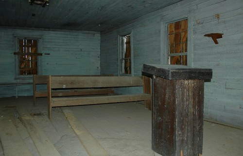 Reeves School House 1870s McDuffie County GA Interior Photograph Copyright Brian Brown Vanishing North Georgia USA 2015