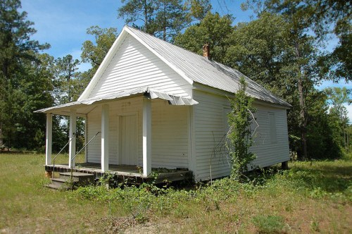 Reeves Schoolhouse 1870s McDuffie County GA Photograph Copyright Brian Brown Vanishing North Georgia USA 2015
