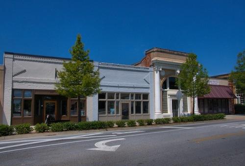 Thomson GA McDuffie County Historic Main Street Storefronts Photograph Copyright Brian Brown Vanishing North Georgia USA 2015